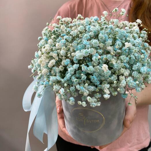 Цветы в коробке «Блю»
