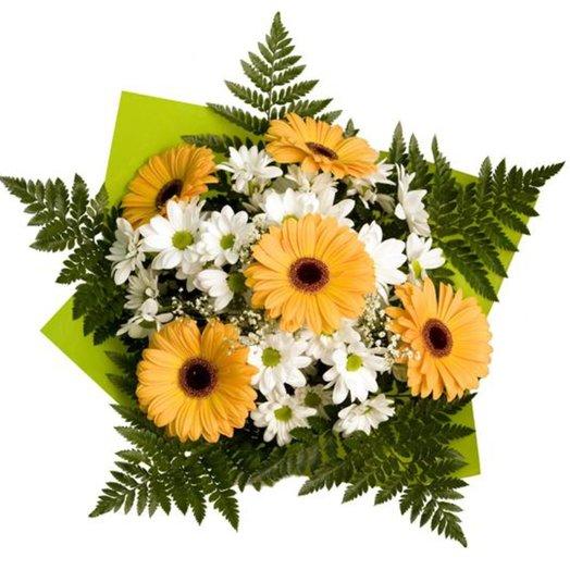 Букет из гербер и хризантем: букеты цветов на заказ Flowwow