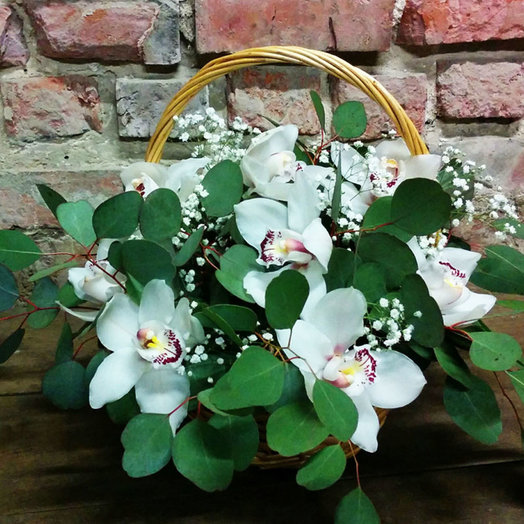 Basket of orchids: flowers to order Flowwow
