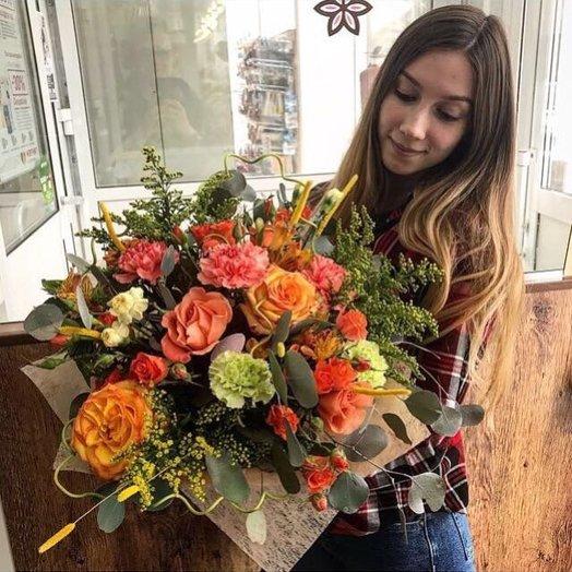 """Букет """"Огненное солнце"""": букеты цветов на заказ Flowwow"""