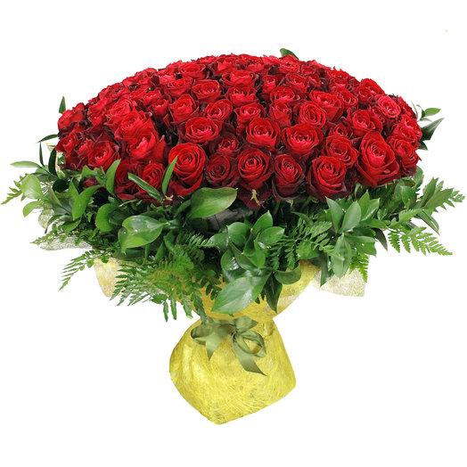 Букет Париж 101 шт 70см: букеты цветов на заказ Flowwow