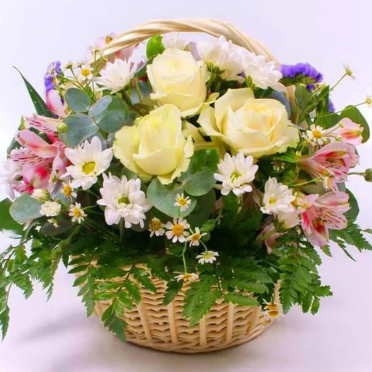 "Корзина ""Лето, лето"". Код 180083: букеты цветов на заказ Flowwow"