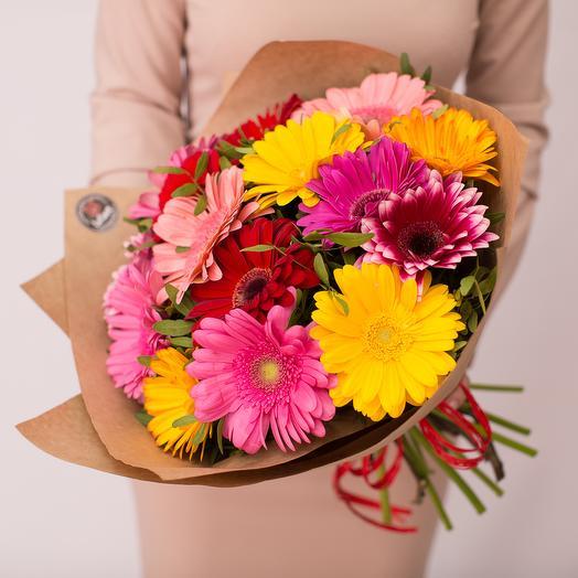 Гербера 15: букеты цветов на заказ Flowwow