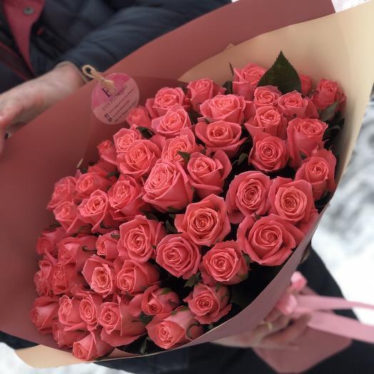 51 роза Карина: букеты цветов на заказ Flowwow