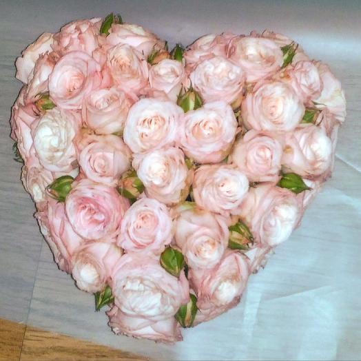 3D ️ сердце из роз: букеты цветов на заказ Flowwow