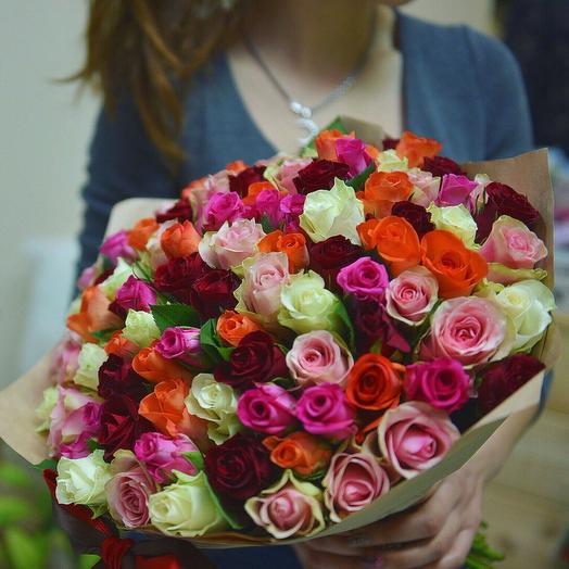 51 роза маме: букеты цветов на заказ Flowwow