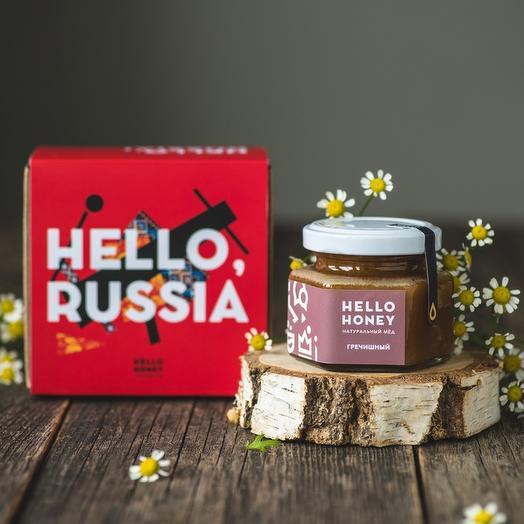 Подарочный набор мёда «Hello, Russia!», одна банка: букеты цветов на заказ Flowwow