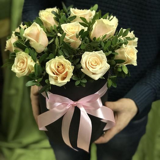 Коробочка из 15 роз: букеты цветов на заказ Flowwow