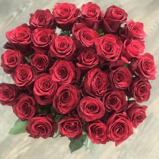 31 красная роза Премиум: букеты цветов на заказ Flowwow