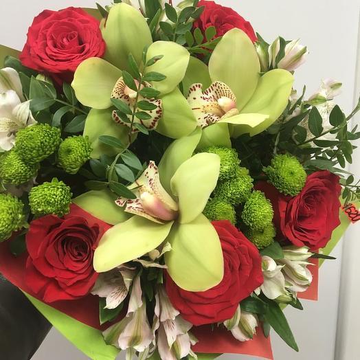 Орхидеи с розами