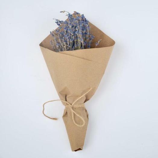 Букет лаванды в крафтовой упаковке: букеты цветов на заказ Flowwow