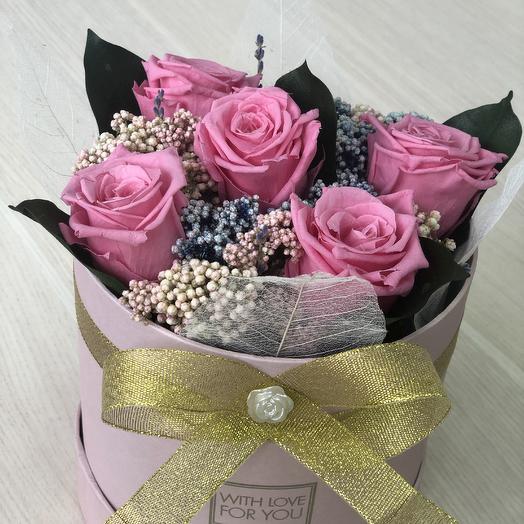 Стабилизированные розы в коробке: букеты цветов на заказ Flowwow