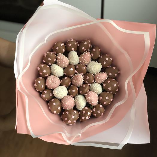 Акция! Клубничный букет 3 Chocolate: букеты цветов на заказ Flowwow