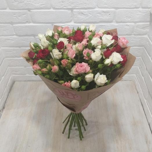 Букет 15 кустовых роз микс: букеты цветов на заказ Flowwow