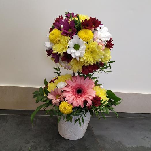 Топиарий из живых цветов: букеты цветов на заказ Flowwow