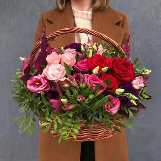 """Корзина """"Зеленый шум"""": букеты цветов на заказ Flowwow"""