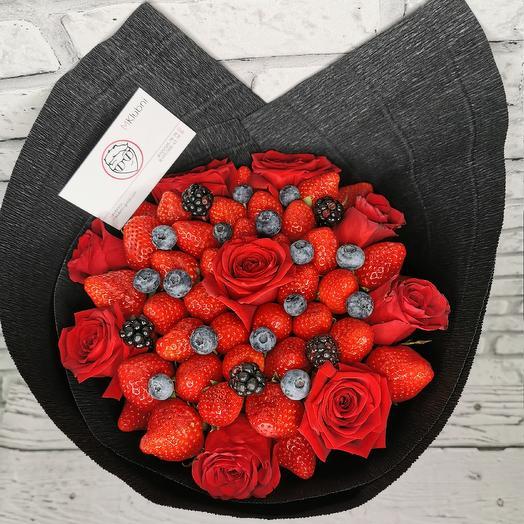 Букет Клубничная Королева: букеты цветов на заказ Flowwow