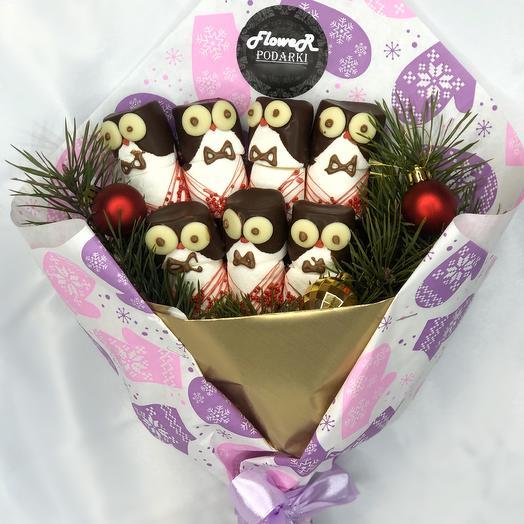Сладкий букет «Забавные пингвины»
