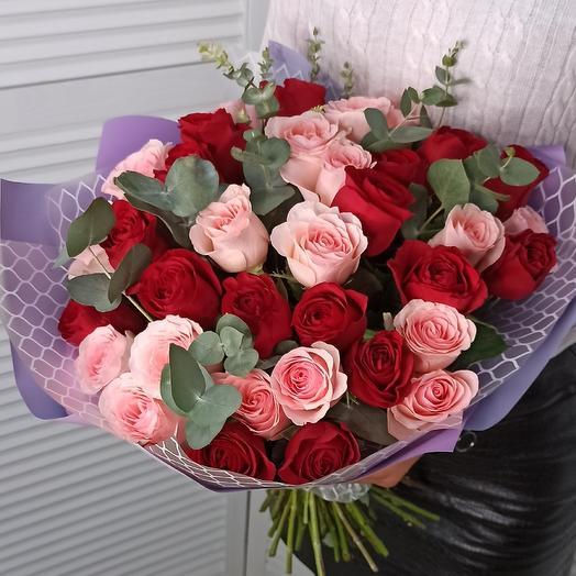 """Букет с розами """"Маэстро"""""""