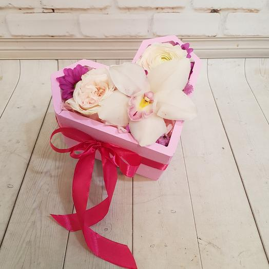 Романтическое сердце: букеты цветов на заказ Flowwow