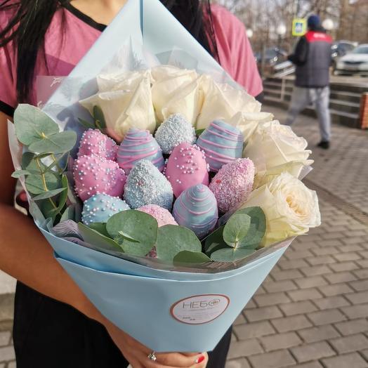 Голубое Утро: букеты цветов на заказ Flowwow