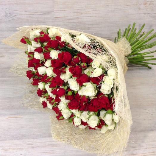 Букет из 21 кустовых роз: букеты цветов на заказ Flowwow