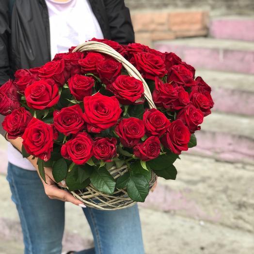 Корзина роз для Любимой