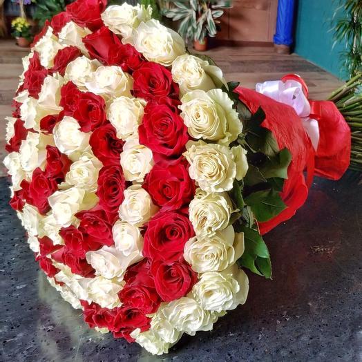 Букет 101 роза Любовная история