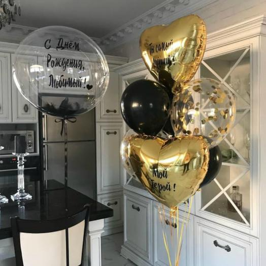 Воздушный букет Баббл и связка шаров