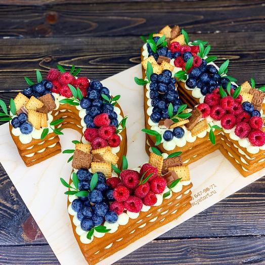 Медовый торт-цифра