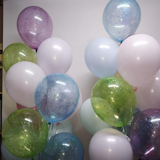 Фонтан нежный блеск, 10 шаров в связке