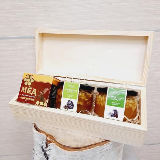 💥Медовая коллекция с орехами и пантами 💥 (в шкатулке)