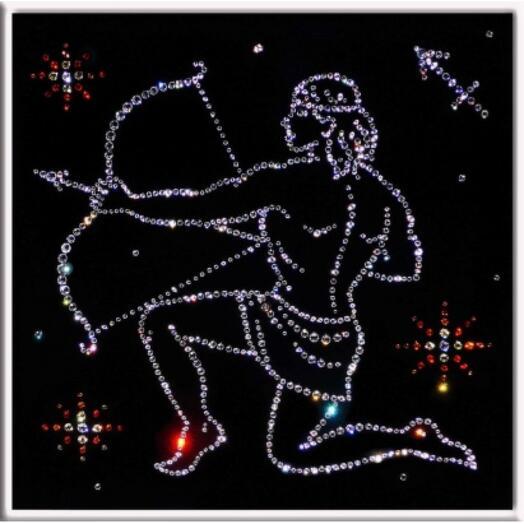 "Картина с кристаллами Swarovski ""Стрелец"""