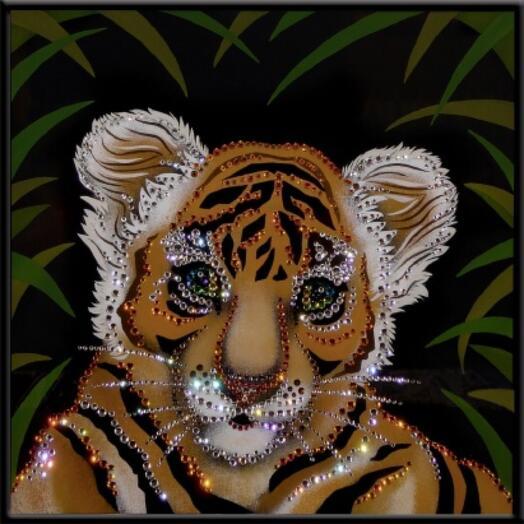 """Картина с кристаллами Swarovski """"В джунглях"""""""