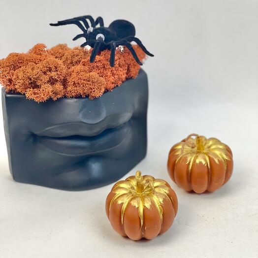 Набор для Хеллоуин Губы и оранжевые свечи
