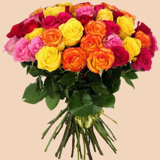 51 роза (40 см): букеты цветов на заказ Flowwow