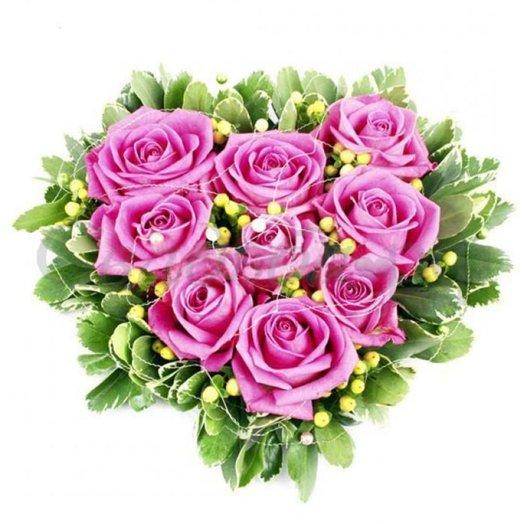 БЦ-160205 Розовое сердечко: букеты цветов на заказ Flowwow
