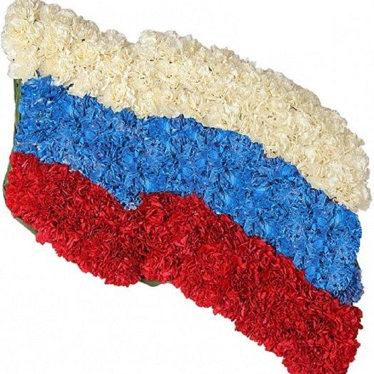 100 Гвоздик Российский флаг