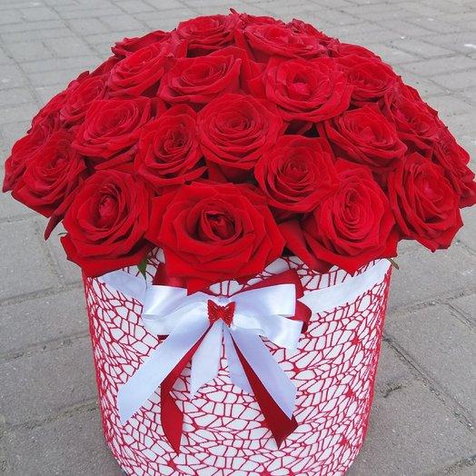 Коробка из 45 красных роз