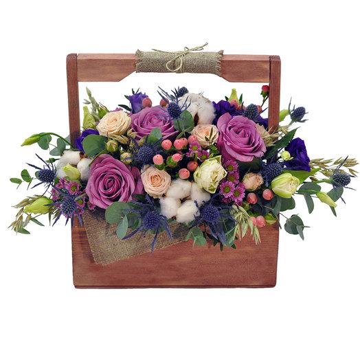 Ящик Мерседесс: букеты цветов на заказ Flowwow