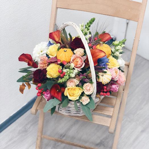 Осенняя Корзина: букеты цветов на заказ Flowwow
