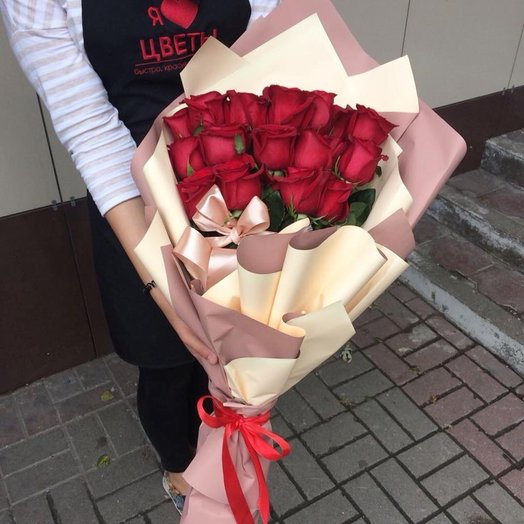 Элегантные розы: букеты цветов на заказ Flowwow