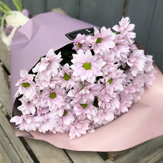 Розовые ромашули: букеты цветов на заказ Flowwow