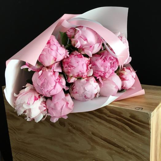 Пионы -Сара Бернар: букеты цветов на заказ Flowwow