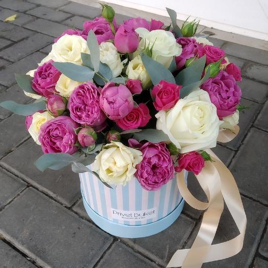 Воздушная коробочка: букеты цветов на заказ Flowwow