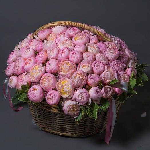 "Букет ""101 Розовый Пион"": букеты цветов на заказ Flowwow"