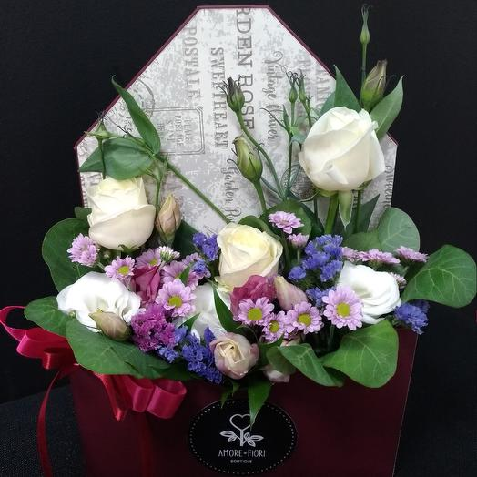 Бокал BORDEAUX: букеты цветов на заказ Flowwow