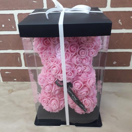 Мишка из фоамирановы роз: букеты цветов на заказ Flowwow