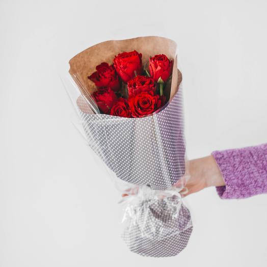 Букет из 7 роз Кения (красный)