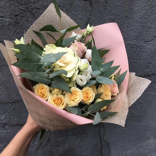 Ароматный букет с брассикой: букеты цветов на заказ Flowwow